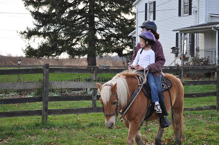 Horseback riding for the kids' birthday