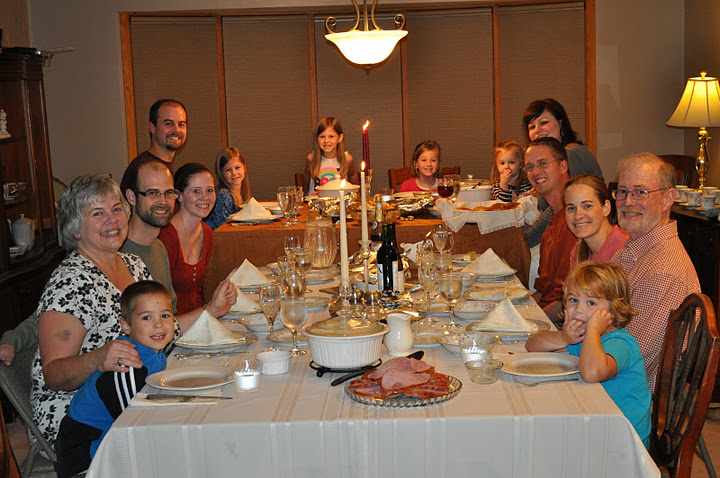 Thanksgiving dinner with the Drake clan.