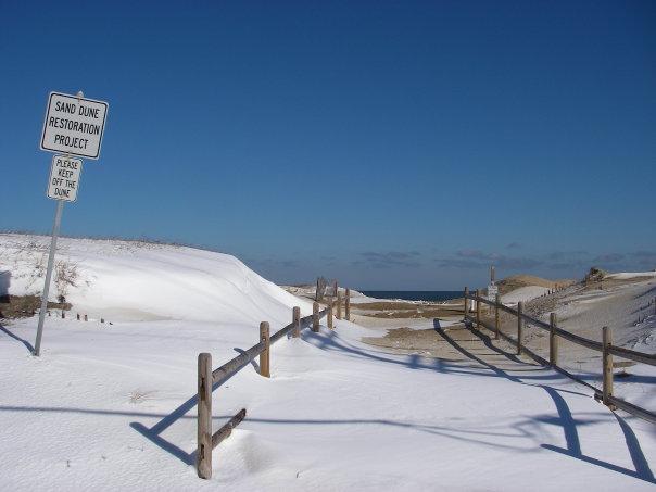 Beach in winter