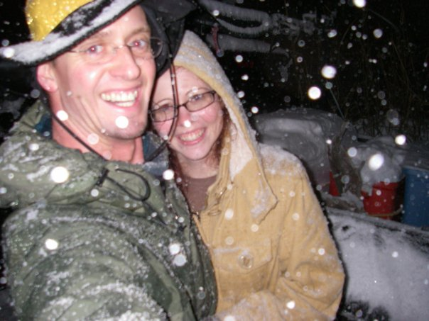 A snowy photo.