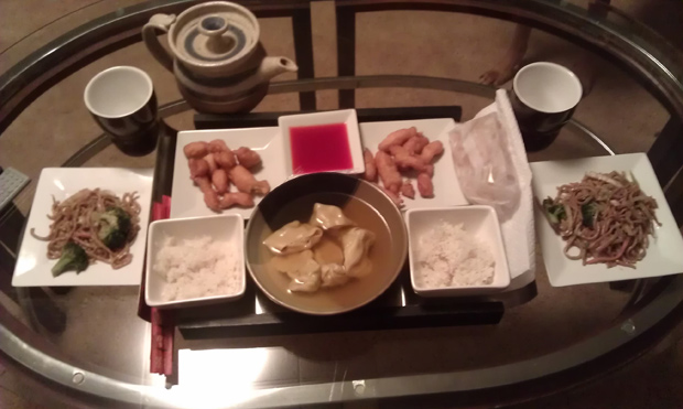 We had Chinese takeout for Sunday dinner.