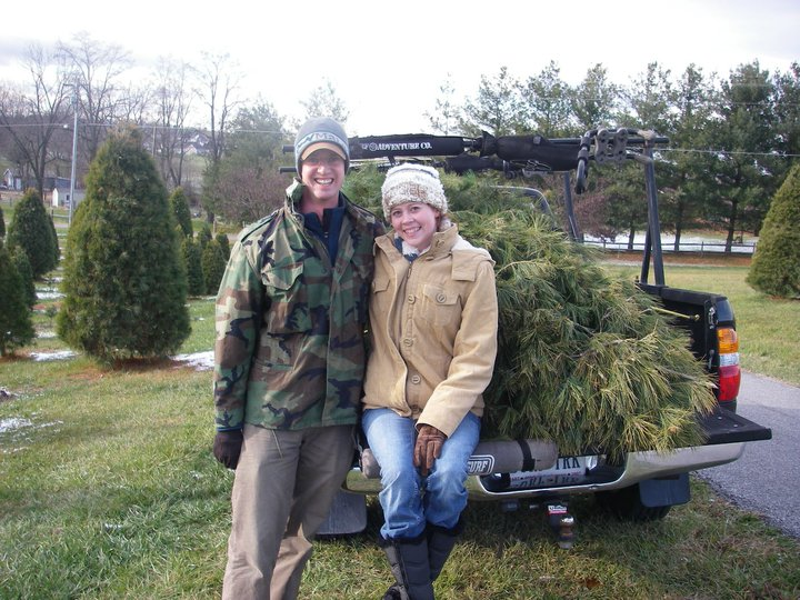 Cutting down our first Christmas tree