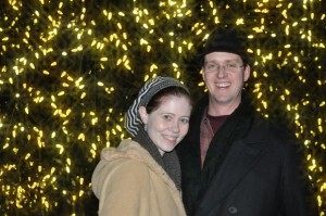 Husband and I in Colonial Williamsburg