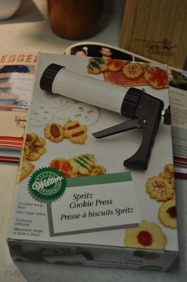 You'll need a cookie press, like this one.