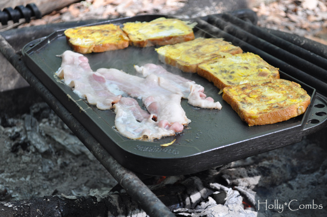 There's nothing quite like breakfast made over a camp fire.