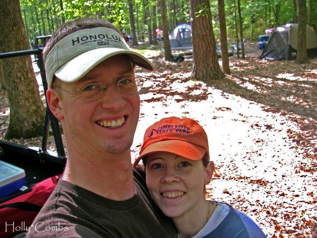 Camping at Northwest River Park with Husband.
