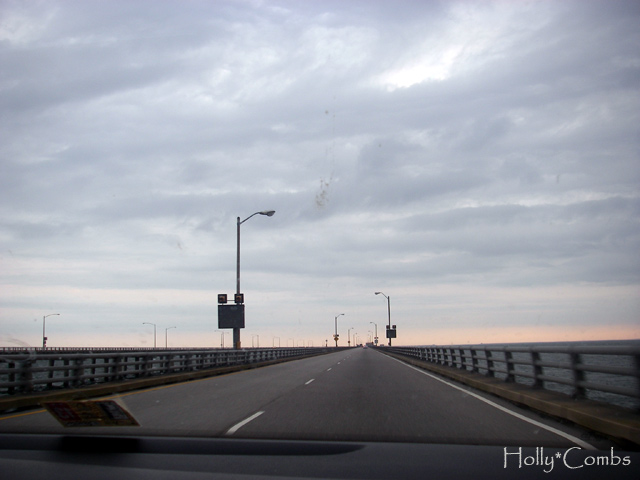 Chesapeake Bay Bridge-Tunnel to the Eastern Shore.