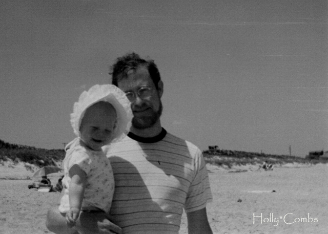 Me and dad at the beach.