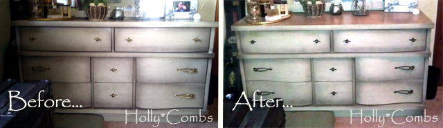 Another dresser before and after