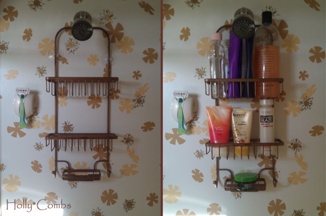 Finished shower caddy