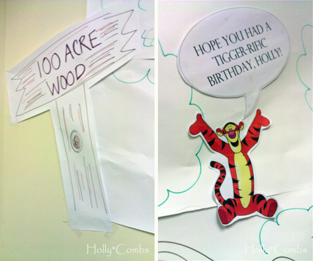 Winnie the pooh decorations for my birthday.