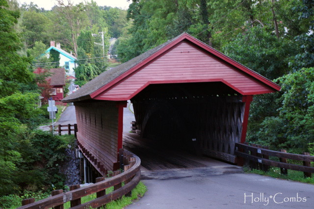 New York covered bridge.