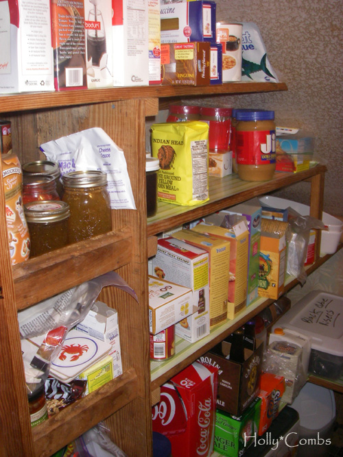 A disorganized pantry