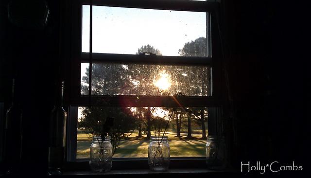 Sunrise in fall.