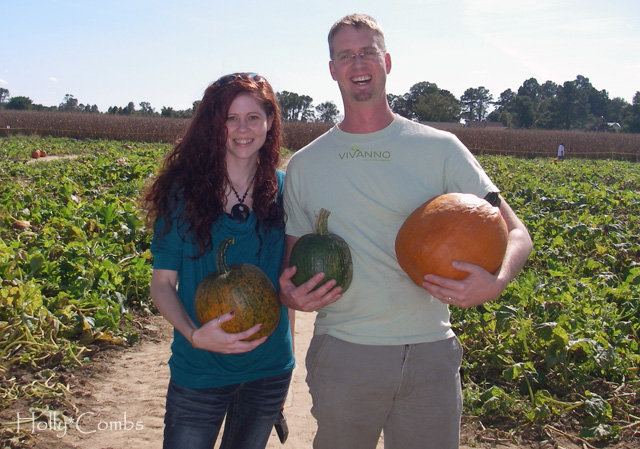 Picking pumpkins with Husband.
