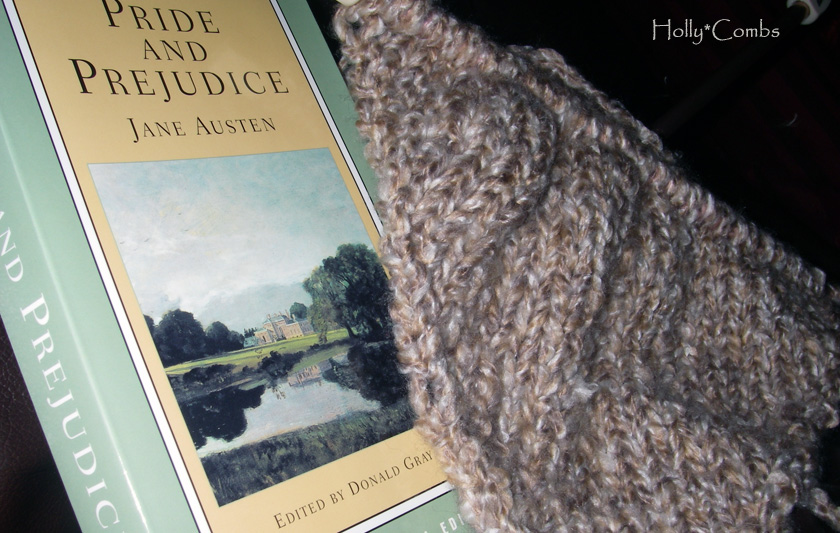 Yarn Along reading Pride and Prejudice