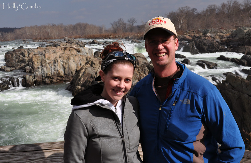 Husband and I at Great Falls Park.