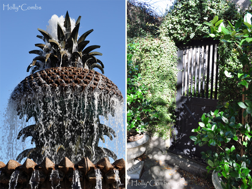 Fountains and architecture in Charleston.