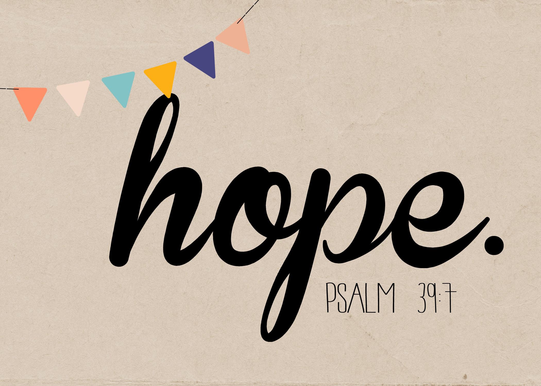 Hope amid hurts