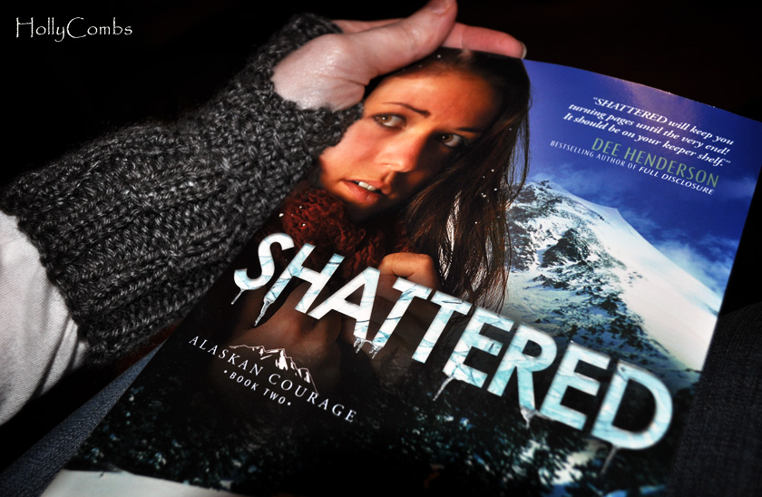 Yarn Along reading Shattered by Dani Pettrey.