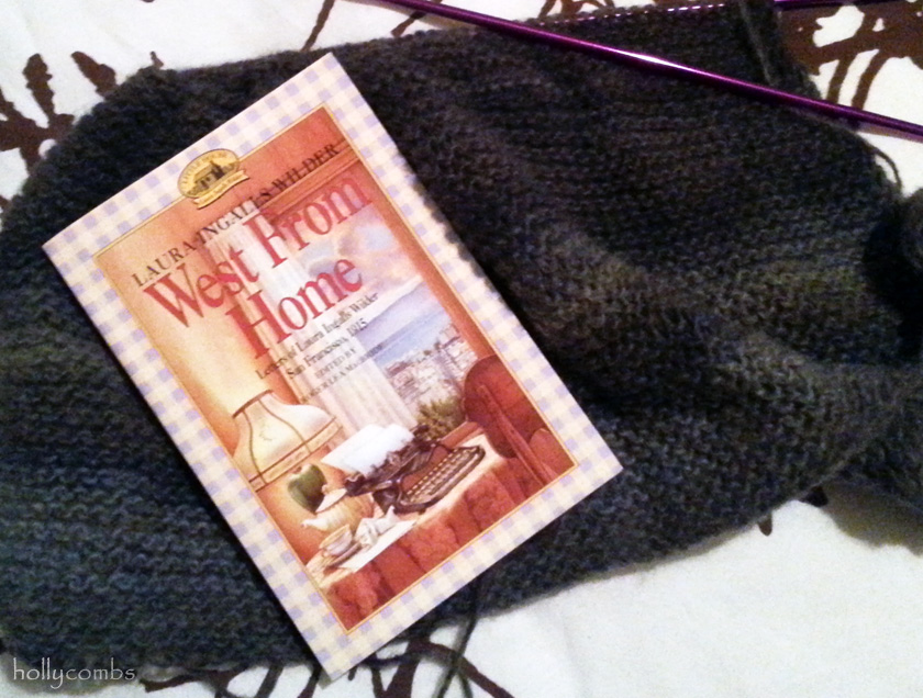 Yarn along with West From Home by Laura Ingalls Wilder