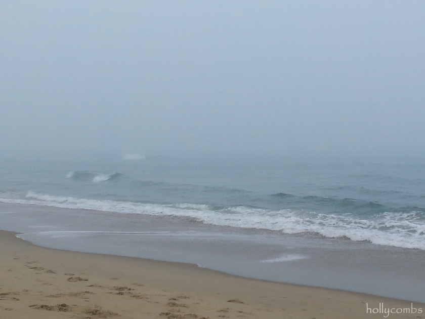 Fog rolling in on the beach