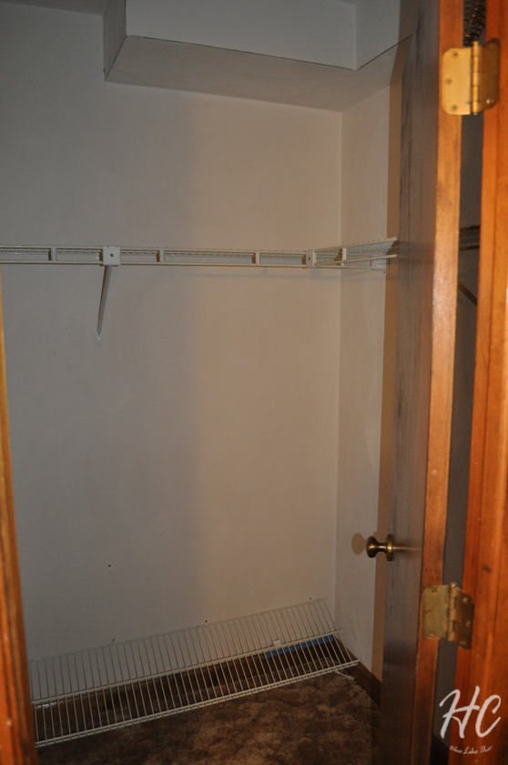 Master bedroom closet - before