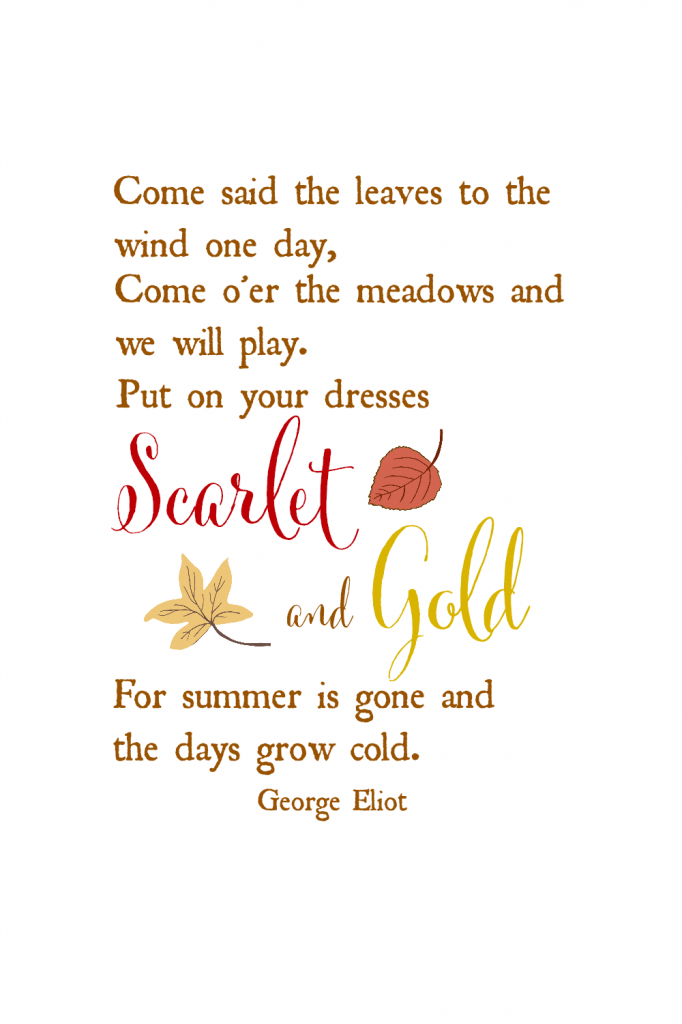 george eliot fall quote free printable