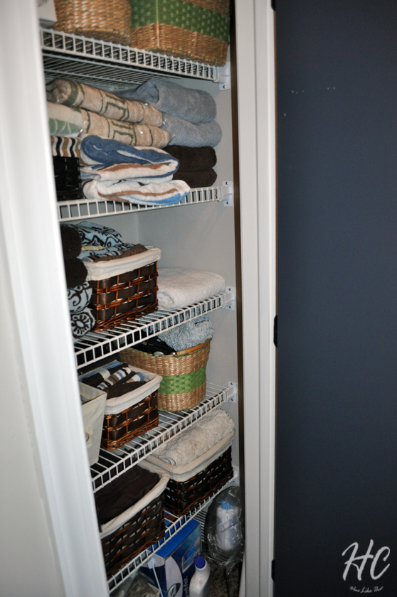 Six Month Progress: Linen Closet