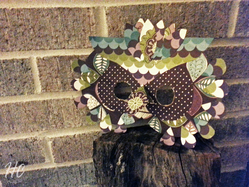 Petit Collage Owl Mask