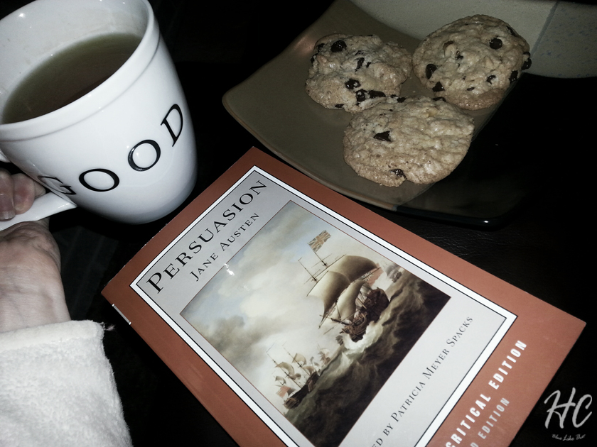 Moments of inspiration with hot tea and a good book