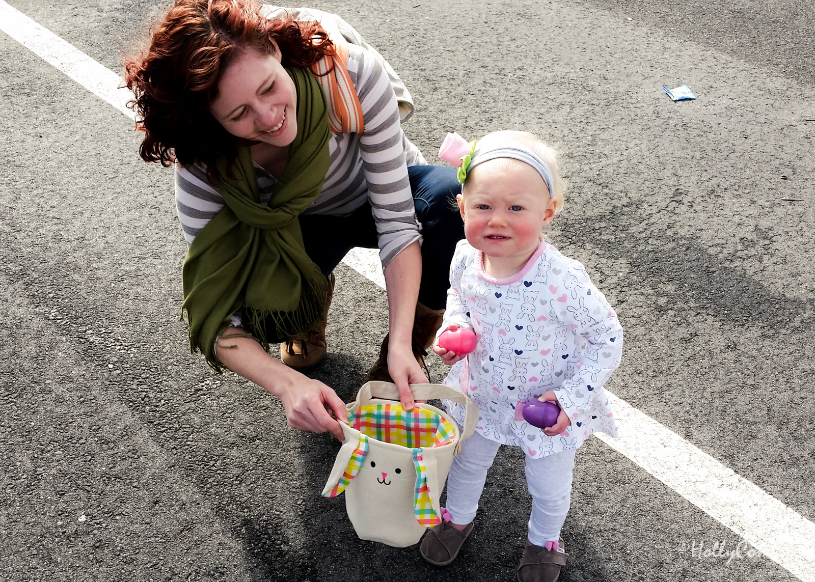 Fiona's first Easter egg hunt.